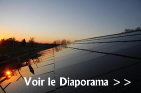 Installation photovoltaique modules Saint Gobain Solar Sunlap